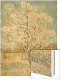 The Pink Peach Tree Wood Print by Vincent van Gogh