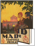 Madrid, Spain - Madrid in Springtime Travel Promotional Poster Art by  Lantern Press