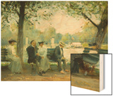 In the Public Gardens, Boston Wood Print by Arthur Clifton Goodwin