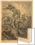 20,000 Leagues Under the Sea: The Squid Claims a Victim Wood Print