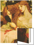 Lady Lilith Wood Print by Dante Gabriel Rossetti