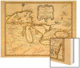1755, Great Lakes Wood Print