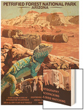 Petrified Forest National Park - Arizona Wood Print by  Lantern Press
