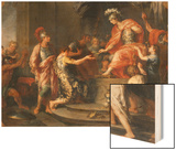Liberality: Alexander the Great Rewarding His Captains Wood Print by Francesco Fernandi