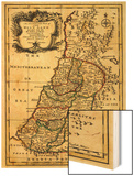 The Tribes of Israel in Palestine - Panoramic Map Wood Print by  Lantern Press