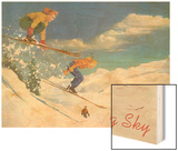 Ski Big Sky, Lady Skiers, Montana Art