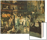 Cliff Dwellers Wood Print by George Bellows