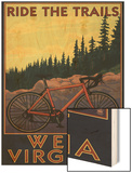 West Virginia - Ride the Trails Wood Print by  Lantern Press