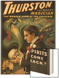 Thurston the Great Magician Holding Skull Magic Poster Wood Print by  Lantern Press