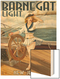 Barnegat Light, New Jersey - Pinup Girl Sailing Posters by  Lantern Press