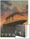 Titanic Scene - White Star Line Wood Print by  Lantern Press