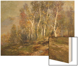 Autumn Birches in the Catskills Wood Print by Edward B. Gay