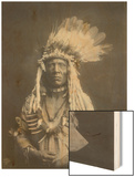 Weasel Tail Piegan Indian Native American Curtis Photograph Wood Print by  Lantern Press