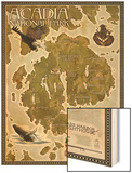 Acadia National Park, Maine - Map Wood Print by  Lantern Press
