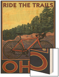 Ohio - Bicycle Ride the Trails Wood Print by  Lantern Press