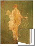 Goddess Flora, or Spring, Roman, Fresco, from Villa di Arianna Wood Print