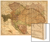 Austria-Hungary - Panoramic Map Prints by  Lantern Press