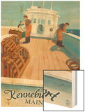 Kennebunkport, Maine - Lobster Boat Wood Print by  Lantern Press