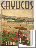 Cayucos, California - Beach and Pier Scene Wood Print by  Lantern Press