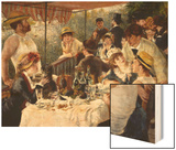 Luncheon of the Boating Party Wood Sign by Renoir Pierre-Auguste