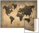World  Map 8 Wood Print by  NaxArt