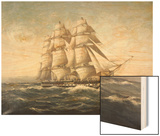 Uss Constitution Wood Print by Myron Clark