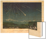 """Shooting Stars"", The Meteorite Shower of November 1872 Seen Over Hills Wood Print by E. Guillemin"