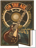 Memphis, Tennessee - Guitar and Microphone - Blue Posters by  Lantern Press