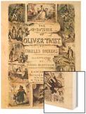 Oliver Twist by Charles Dickens Wood Print by George Cruikshank
