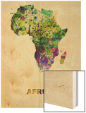 Africa Color Splatter Map Prints