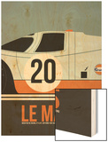 Le Mans Poster 2 Wood Print by Anna Malkin
