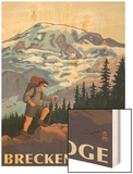 Breckenridge, Colorado - Mountain Hiker Wood Print by  Lantern Press