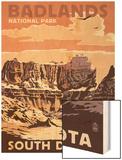 Badlands National Park, South Dakota - Castle Rock Posters by  Lantern Press