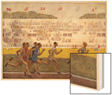 Runners on the Track Wood Print by Georges Leroux