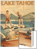 Lake Tahoe, California - Water Skiing Scene Posters