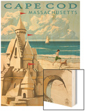 Cape Cod, Massachusetts - Sand Castle Posters by  Lantern Press