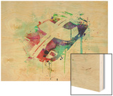 Ford Gt Top Watercolor Wood Print by  NaxArt