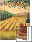 Napa Valley, California Wine Country Wood Print by  Lantern Press