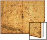 Bahamas - Panoramic Map Poster by  Lantern Press