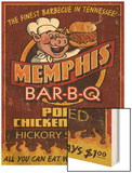 Memphis, Tennessee - Barbecue Wood Print by  Lantern Press