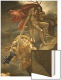 Scene de Deluge Wood Print by Anne-Louis Girodet de Roussy-Trioson