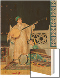 Two Musician Girls Wood Print by Osman Hamdi Bey