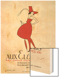 "Poster Advertising ""Aux Elegantes"" in London's Old Brompton Road Wood Print by Aldo Cosomati"