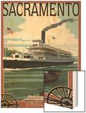 Delta King Riverboat - Sacramento, CA Wood Print by  Lantern Press
