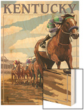 Kentucky - Horse Racing Track Scene Posters