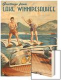Lake Winnipesaukee, New Hampshire - Water Skiing Scene Posters