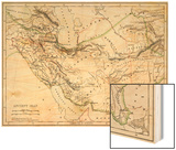 Map of the Ancient Persian Empire Wood Print
