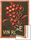 Vin Rouge De Table Wine Label - Europe Prints by  Lantern Press