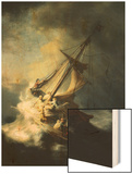The Storm on the Sea of Galilee Wood Print by  Rembrandt van Rijn