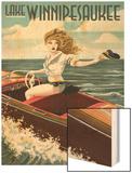 Lake Winnipesaukee, New Hampshire - Pinup Girl Boating Prints